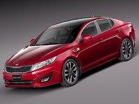 3d model 2013 2014 sedan kia