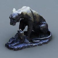 lion mama statue 3d model