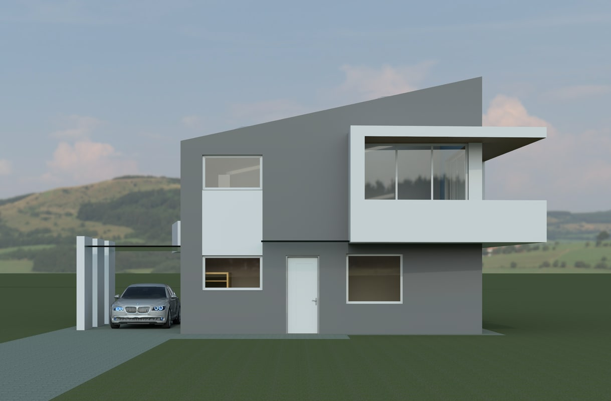 Modern house 3d model for Modern model homes