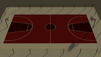 3d basketball court model