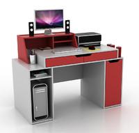 designer's computer desk