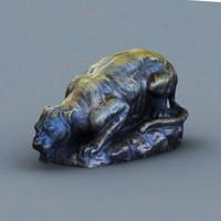 tiger statue 3d max
