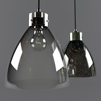 3d model industrial pendant glass lamp