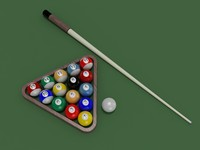 3d model billiard ball
