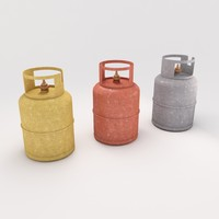bottle gas 3d model