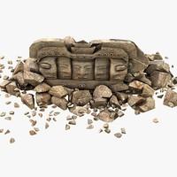 model of stone head v3