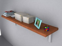 maya wooden shelving