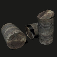 rusty opened tin ready 3d model