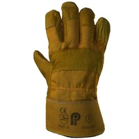 protective gloves yellow suede 3ds