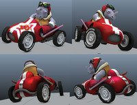 3d atom car model
