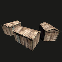 3ds max small wooden barn wood