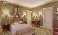 3d model classic bedroom interior