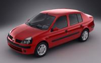 renault clio symbol 2004 3d model