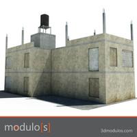 ruin building 3d ma