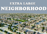 neighborhood houses 3d 3ds