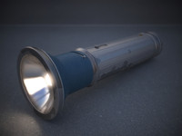3d model vintage flashlight