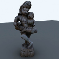 3d model indian figure interiors