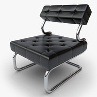maya design chair black leather