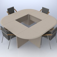 office table meetings 3d max