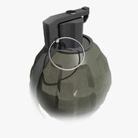 grenade hand 3d 3ds