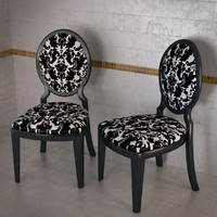 3d glamour 1195 chair tonin model
