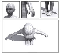 generic boy base mesh 3d model