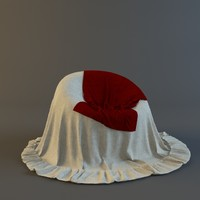 3d chair cape model