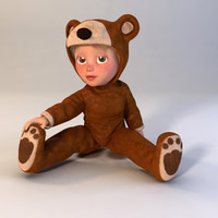 maya cartoon child boy bear