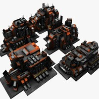 5 sci fi city buildings max