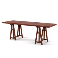 Bookfield Trestile Deskg table office architect modern