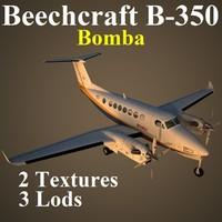 beech 350 bom 3d model
