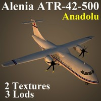 alenia anadolu low-poly 3d model