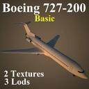Boeing 727 3D models