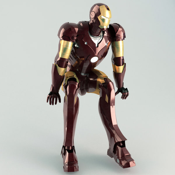 maya iron man rigged - Iron Man Rigged... by 3d_molier