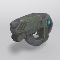 3ds max sci-fi gun