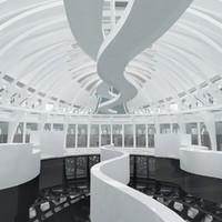3ds modern interior scene