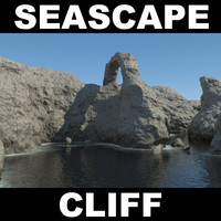 3d model of cliff rock landscape