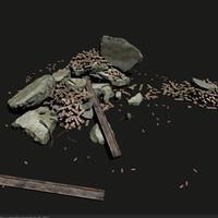 maya concrete debris ready