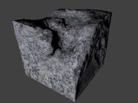 3d model broken cement