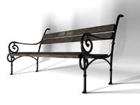 3d model bench 1