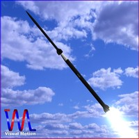 sounding rocket loki 3d model