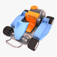 carting toy 3d model