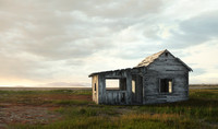 old abandoned house 3d model