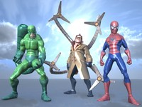 3d model characters spiderman