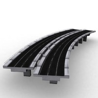 3d model structure bridge concrete road