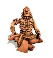 3d decorative mayan merchant statue