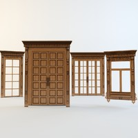 3d doors windows carved aprons