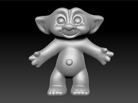 3d model of scan treasure troll