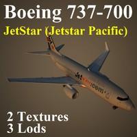 3d boeing 737-700 jst model