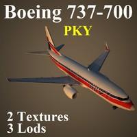 3d boeing 737-700 pky model